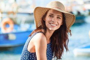 Woman Smiling in Summer